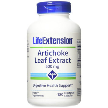 Life Extension Artichoke Leaf Extract 500 Mg, 180 Count
