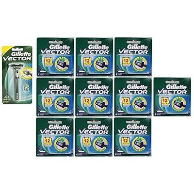 Vector Plus Razor Handle + Vector Plus Refill Razor Blades 4 ct. (Pack of 10) + FREE Assorted Purse Kit/Cosmetic Bag Bonus Gift