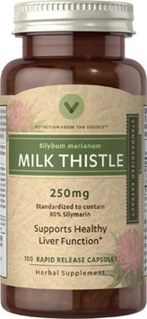 Vitamin World Milk Thistle (Silymarin) Standardized Extract
