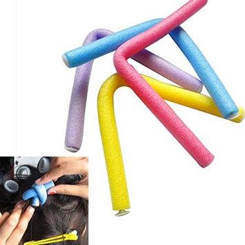Malloom 10PCS Curler Makers Foam Bendy Twist Curls Beauty DIY Styling Hair Rollers