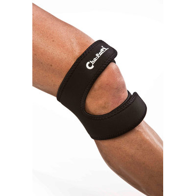 Cho-Pat Dual Action Knee Strap Black Small-1 Small Each
