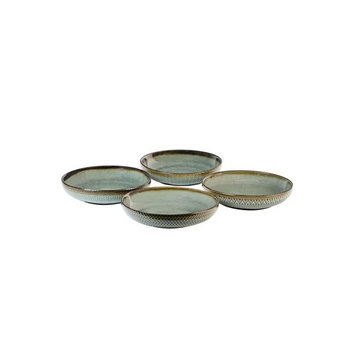 Glyph Grey Set of 4 Dinner Bowls