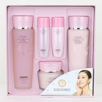 3wclinic Flower Effect Extra Moisturizing Skin Care 3set,soft,bright,healthy,gift Mask Pack