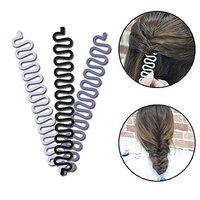 Magic Hair Braided Tool Women Fashion French Hair Styling Clip DIY French Hair Braiding Tool Hairstyle Braid Tool Twist Plait Hair Braiding Tool Bun or Pony Tail Hair Accessories 3 Pack