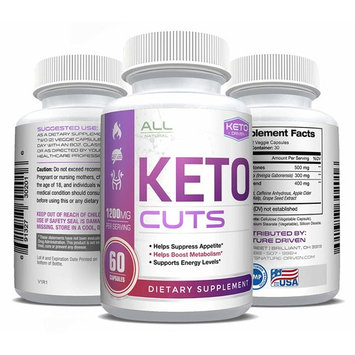 Keto Cut- Best Shark Tank Keto Pill- Boosts Metabolism and Energy - Burn Fat not Carbs - All Natural Weight Loss - Electrolytes