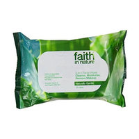 Faith In Nature 3 in 1 Facial Wipes 25pk (2 Pack)