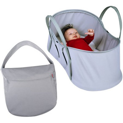 Phil & Teds Nest Portable Baby Bassinet and Travel Bag - Silver