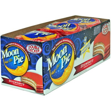 Moonpie Marshmallow Sandwiches Strawberry Double Decker, 2.75 Oz (Innerpack of 9)