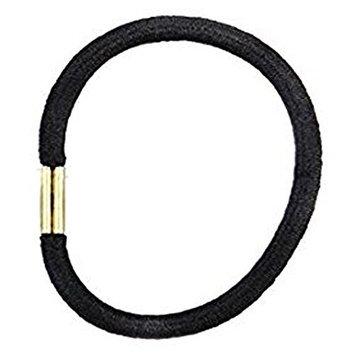 10PCS 6MM Black Stretchy Thick Hair Elastics Hair Bands Bulk Holders For Girls Women
