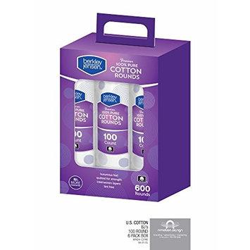 Berkley Jensen Premium Cotton Rounds, 6 pk./100 ct. (pack of 2)