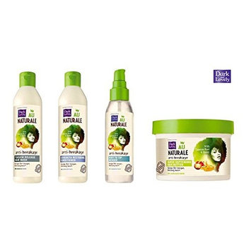 (LIMITED HOLIDAY VALUE SET) Dark and Lovely Au Naturale Anti Breakage HAIR WASH (13.5oz) + RESTORING CONDITIONER (13.5oz) + ROOT TO TIP MENDER (4oz) + HAIR BUTTER (8oz) : Beauty