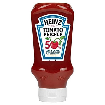 Heinz Tomato Ketchup Reduced Sugars & Salt 555g - Pack of 2