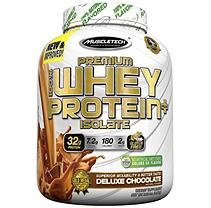 MuscleTech 100% Premium Whey Protein Isolate, 3 Pounds, Deluxe Chocolate