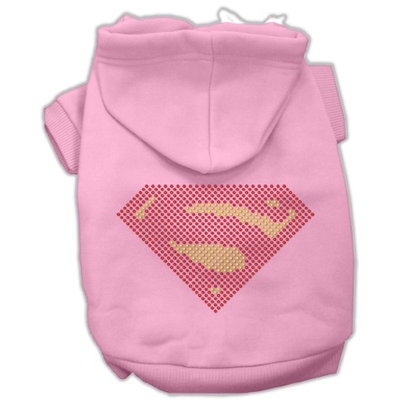 Mirage Pet Products 5477 LGPK Super Rhinestone Hoodies Pink L 14