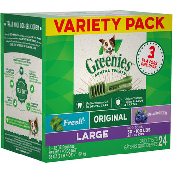 Greenies™ Fresh, Original and Blueberry Dental Dog Treats Variety Pack