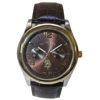 U.S. Polo Association Two Tone Leather Watch - Men