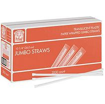 Daily Chef Wrapped Jumbo Straws - 2,000 Ct.