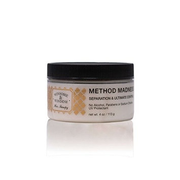 Method Madness Styling Paste Hair Texture Balm For Women Men Kids Texturizer Anti Frizz Cream No Alcohol Parabens UV Protection Flexible Hold Winsome & Wisdom Cruelty Free Hair Care Products