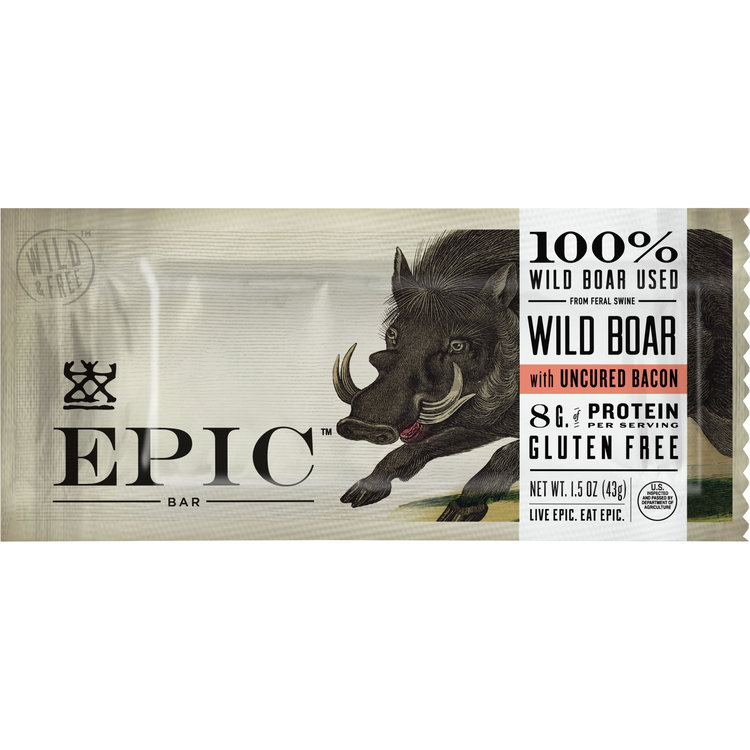 EPIC Wild Boar with Uncured Bacon Bar, 1.5oz