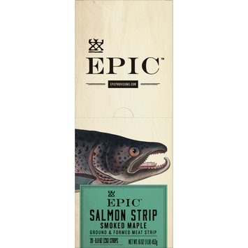 EPIC Smoked Salmon Strips, 20 Count Box 0.8oz strips