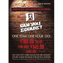 Can You Escape - 1 x $180.60