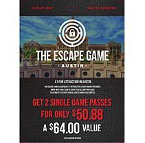 The Escape Game Escape Game Austin - 2 x $32