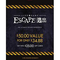 LIVE GAME ESCAPE UTAH LLC 2 X $35