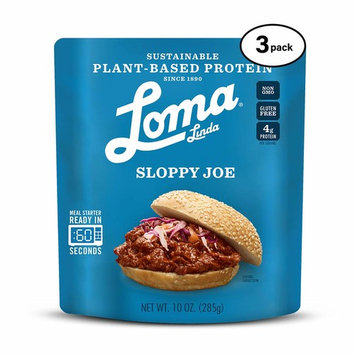 Loma Linda Blue - Plant-Based Meal Solution - Sloppy Joe (10 oz.) (Pack of 3) - Non-GMO, Gluten Free