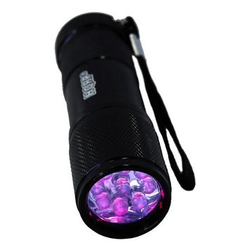 HQRP 9 LEDs Professional UV Black Light Torch Light with Large Coverage Area for Hotel Room Inspection / Urine Detection / Mineral Hunting / Scorpions Hunting / Arson Investigation + HQRP UV Meter