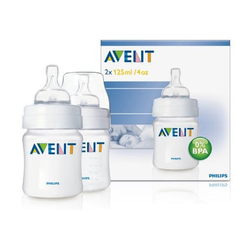 Philips AVENT Feeding bottle Classic 4oz/ 125 ml Newborn Flow Nipple 2-Pack