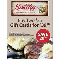 Michelbob's Smitty's Pancake and Steakhouse $50 Gift Card, 2/$25