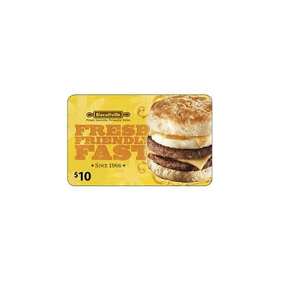 Biscuitville $50 Gift Card - 5 x $10