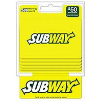 Subway $50 Multi-Pack - 5/$10 Gift Cards