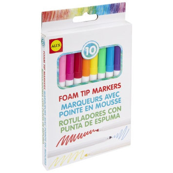 HearthSong Foam-Tipped Markers, Set of 10 Markers