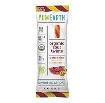 YumEarth 231958 2 oz Organic Gummies Sour Twists Watermelon Lemonade Gummies