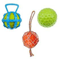 Mugsy's Interactive Fun Dog Toy Ball Set (3 pc)