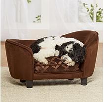 Enchanted Home Pet Ultra Plush Snuggle Sofa, Brown
