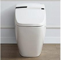 OVE Decors Bernard Smart 1-piece 1.6 GPF Elongated Toilet and Bidet with Seat in White
