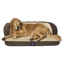 Serta Perfect Sleeper Oversized Orthopedic Sleeper Sofa Pet Bed, Brown