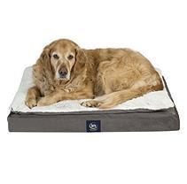 Serta Perfect Sleeper Ultra PillowTop Orthopedic Pet Bed, Gray (36