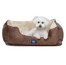 Serta Perfect Sleeper Orthopedic Cuddler Pet Bed, Brown