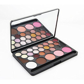 PhantomSky 28 Color Eyeshadow Palette Makeup Contouring Kit Combination with Blush and Eyebrow #1 - Perfect for Professional and Daily Use