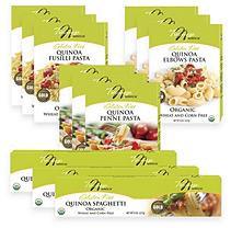 Tresomega Nutrition Organic Quinoa Pasta Variety Pack (3-8oz elbows, 3-8oz spaghetti, 3-8oz fusilli, 3-8oz penne)