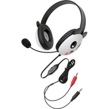 Califone International Califone Stereo Headset, Panda w/ Mic Dual 3.5mm Plug Via Ergoguys