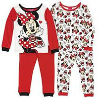 Disney® Minnie Mouse Size 4T 4-Piece Pajama Set in Red