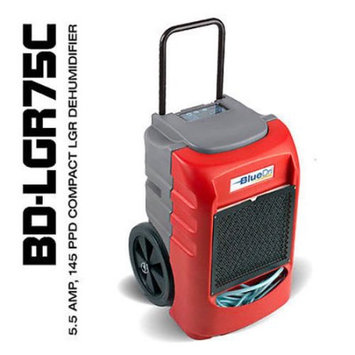 BlueDri? BD-LGR75C 75PPD AHAM 145PPD Compact Low Grain Commercial Dehumidifier Red