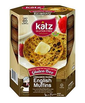 Katz Gluten Free Cinnamon Raisin English Muffins, 8.5 Ounce