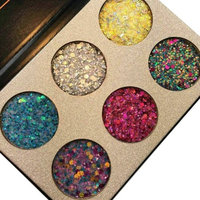 Beauty Glazed Make Up Palettes 6 Colors Glitter Injections Pressed Pigmented Glitter Eyeshadow Powder Makeup Palettes Diamond Shimmer