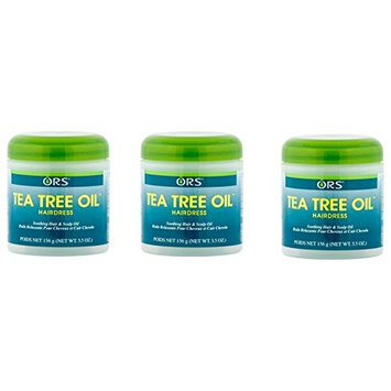 [ VALUE PACK OF 3] ORS TEE TREE OIL HAIR DRESS SOOTHING HAIR AND SCALP OIL 5.5 OUNCE : Beauty