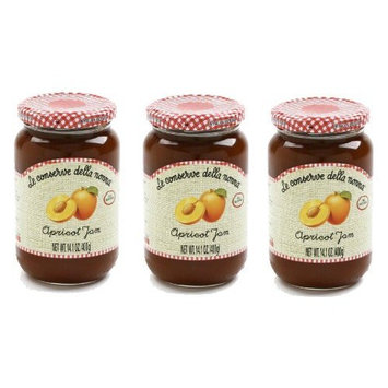 Le Conserve Della Nonna Apricot (Albicocca) Jam Imported From Italy - 14 Oz. All Natural - 3 Pack